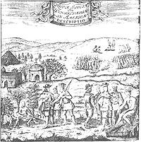 New Sweden—encounter between Swedish colonists and the natives of Delaware