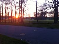 Sunset in Woodbrook, New Castle County, Delaware
