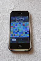 iPhone (first generation), the first commercially released device running iOS (2007)