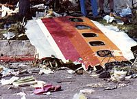 Wreckage of PSA 182 after the crash