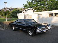 Black '67 Impala, similar to the car in the series