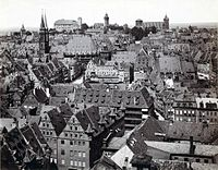 Old town of Nuremberg in the 19th century