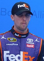 Denny Hamlin scored his 27th career victory in Sprint Cup, his first in the Daytona 500.