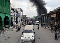 UN forces took to patrolling the streets of Port-au-Prince