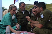 Israeli and U.S. medical personnel coordinate relief efforts.