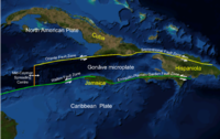 Map showing regional tectonic setting of the Enriquillo-Plantain Garden fault zone