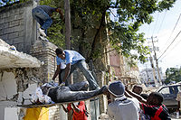While international efforts received significant media coverage, much of the local rescue effort was conducted by Haitians