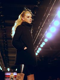 Stam modeling for Miss Sixty, Fall 2007 at New York Fashion Week