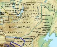 The Northern Yuan at its greatest extent.