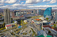 View of Ulaanbaatar with the Blue Sky Tower