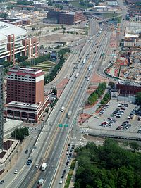 Interstate 70 in downtown St. Louis