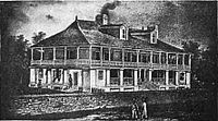 The home of Auguste Chouteau in St. Louis. Chouteau and Pierre Laclède founded St. Louis in 1764.