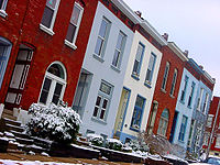 Many houses in Lafayette Square are built with a blending of Greek Revival, Federal and Italianate styles