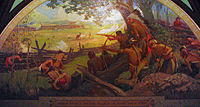 In 1780 during the American Revolutionary War, St. Louis was attacked by British forces, mostly Native American allies, in the Battle of St. Louis.