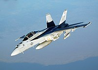 A Boeing F/A-18E Super Hornet produced by Boeing Defense, Space & Security, which is headquartered in St. Louis. The F/A-18E Super Hornet is assembled in the St. Louis area.