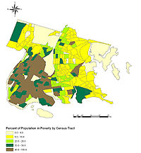 Poverty concentrations within the Bronx, by Census Tract