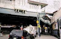 The Simpson Street elevated station was built in 1904 and opened on November 26, 1904. It was listed in the National Register of Historic Places on September 17, 2004, reference #04001027.