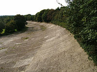 A remaining section of the Brooklands track in 2007