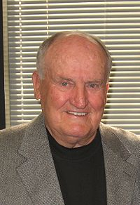 LaVell Edwards, M.S. 1960, former head football coach of Brigham Young University