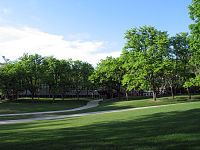 A. Ray Olpin University Union and courtyard.