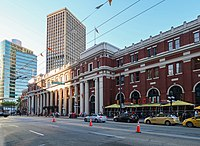 Waterfront station is a major intermodal public transportation hub in Downtown Vancouver.