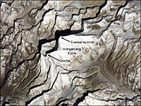 Kangshung Face (the east face) as seen from orbit