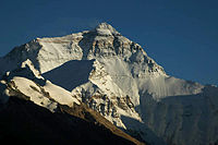 Mount Everest north face from Rongbuk in Tibet