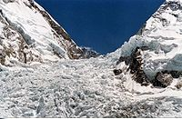 The Khumbu Icefall in 2005