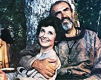 Hepburn and Sean Connery in the film Robin and Marian (1976)