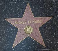 Hepburn's star on the Hollywood Walk of Fame