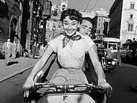With Gregory Peck in Roman Holiday (1953)
