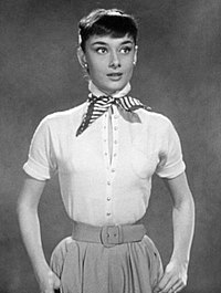 Hepburn in a screen test for Roman Holiday (1953) which was also used as promotional material for the film.