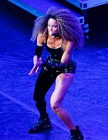 Ciara performing her opening act for Bruno Mars' 24K Magic World Tour