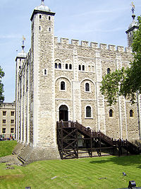 The original entrance to the White Tower was at first-floor level
