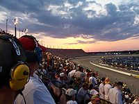Darlington Raceway (pictured in 2008), where the race was held.