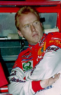 Ricky Craven (pictured in 1997) won the race by two-thousands of a second, the joint-closest finish in NASCAR Cup Series history