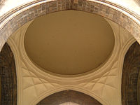 Internal view of the dome, with muqarnas designs