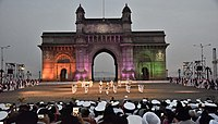 Beating the Retreat and Tattoo Ceremony at the gateway, on Navy Day in 2018