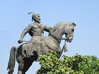Statue of Shivaji, in the vicinity of the gateway