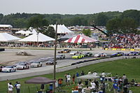 The Nationwide (now Xfinity) Series at Road America in 2011, using the Car of Tomorrow design.