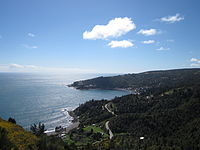 Los Molinos on the coast of Southern Chile