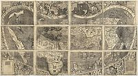 """Universalis Cosmographia, the Waldseemüller map dated 1507, from a time when the nature of the Americas was ambiguous, particularly North America, as a possible part of Asia, was the first map to show the Americas separating two distinct oceans. South America was generally considered a """"new world"""" and shows the name """"America"""" for the first time, after Amerigo Vespucci"""