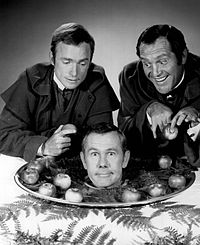 With Dick Cavett and Alan King in 1968