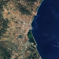Valencia and surroundings as seen by the ESA's Sentinel-2 satellite