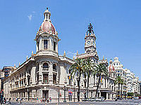 View of the city hall of Valencia