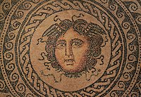 Detail of 2nd century Roman mosaic found in the city