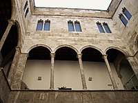 The gothic courtyard of the Palace of the Admiral of Aragon (Palau de l'Almirall)