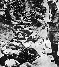 Chinese corpses in a ditch after being killed by the Imperial Japanese Army, Hsuchow