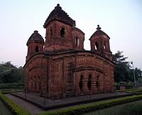 Panchchura Temple in Bishnupur, one of the older examples of the terracotta arts of India.