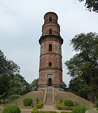 Firoz Minar at Gauḍa was built during the Bengal Sultanate
